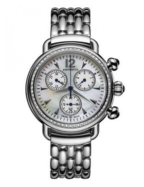 AEROWATCH Ladies 1942 Chrono Lady Taşlı